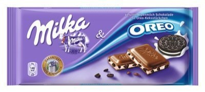 MILKA OREO NEW, 20 CHOCOLATE BARS WITH EACH 100 grams