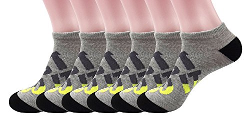 Silkworld Women'S Cotton Low Cut Terry Socks Pack Of 6 Pack Of 6 Gray