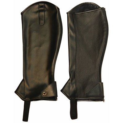 TuffRider Childs Micro Touch Half Chaps M Black
