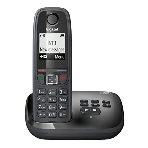 Gigaset AS405A Téléphone sans Fil DECT/GAP avec Répondeur Noir