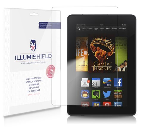 Illumishield - Amazon Kindle Fire Hd 7 (2Nd Generation) Screen Protector (2013) Japanese Ultra Clear Hd Film With Anti-Bubble And Anti-Fingerprint - High Quality (Invisible) Lcd Shield - Lifetime Replacement Warranty - [3-Pack] Oem / Retail Packaging