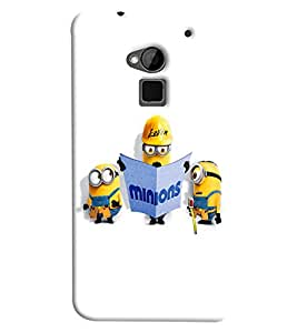 Blue Throat Minion Doing Constrcution Printed Designer Back Cover/ Case For HTC One Max