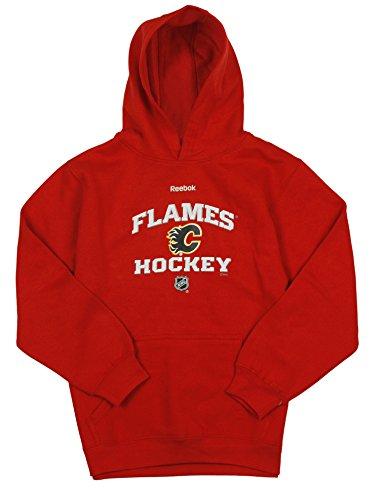 Giordano Calgary Flames NHL Reebok Big Boys Red Fleece Pullover Hoodie