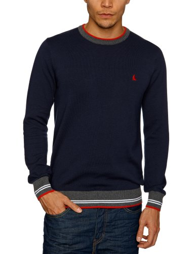 Musto Kite Cotton Crew Neck Men's Jumpers Navy Large