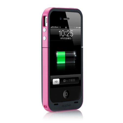 日本正規代理店品mophie juice pack plus for iPhone 4S/4 マゼンタ MOP-PH-000012
