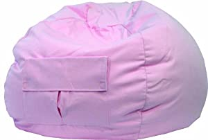 Gold Medal 31008484922 Small Denim Bean Bag With Pocket For Children Pink from Hudson Beanbags