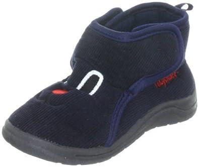Playshoes Hausschuh Klettverschluß 204702, Pantofole unisex bambino, Blu (blau (marine11)), 20/21