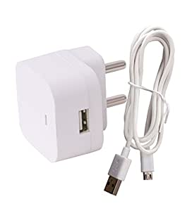 Micromax A62 Wall Charger 1.5Amp with Charging/SYNC Cable By Dhhan