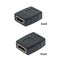 "UNMCOREâ""¢ (2 PACK) HDMI Female to HDMI Female Adapter Coupler - Black"