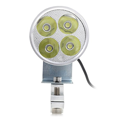CARCHET® 12W 4 LEDs Phare Feu Lampe Avant Éclairage Lumière Blanc Haute Puissance DC 12-24V pour Moto Motocycle