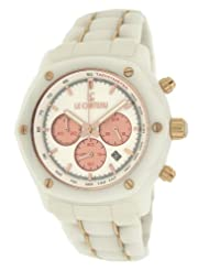 Le Chateau Men's 5856wht_whtrse Persida LC Watch