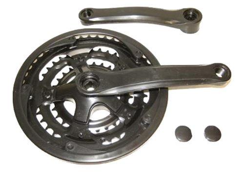 Fahrrad Antrieb Kurbel Kettenradgarnitur 3-fach schwarz 48-38-28
