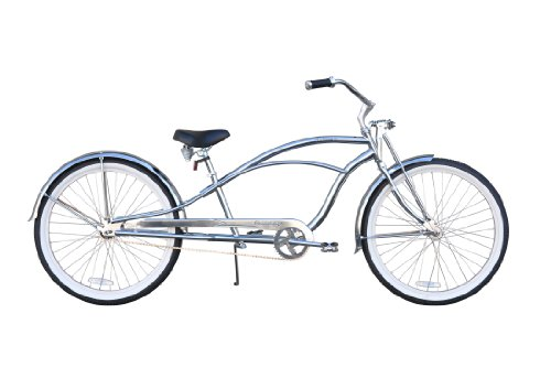 "Urban Man Deluxe Stretch Cruiser Bike single speed 26"" Firmstrong- chrome"