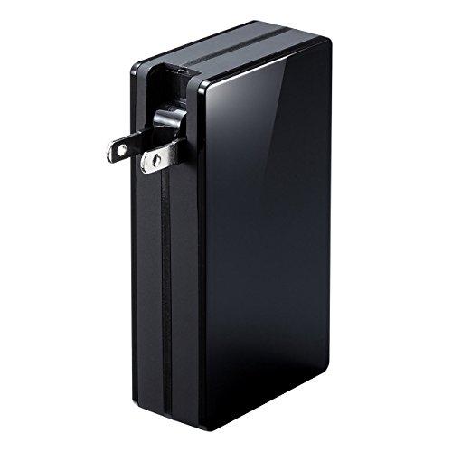 旅に最適!ACプラグ内蔵のモバイルバッテリー(700-BTL028BK)