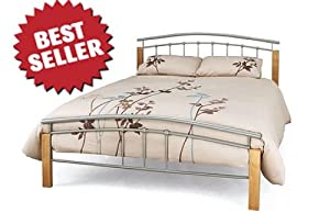 New Tetras Metal Bed Frame 4FT6 Double Silver       Customer reviews and more information