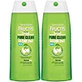2 Pk, Garnier Fructis Pure Clean 2-in-1 Shampoo and Conditioner for Normal Hair, 25.4 Fluid Ounce