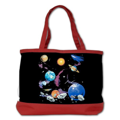 Shoulder Bag Purse (2-Sided) Red Solar System And Asteroids