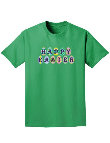 Easter Eggs Happy Easter Easter Adult Dark T-Shirt - Kelly Green - Large