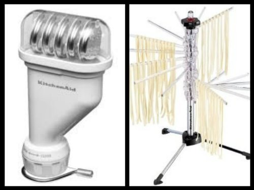 KitchenAid KPEXTA Stand Mixer Attachment, Pasta Press plus KPDR Pasta Drying Rack (Kitchenaid Pasta Maker Attachment compare prices)