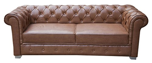 Karigar EFC Two Seater Sectional Sofa (Brown)