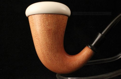 Meerschaum Pipe - CALABASH - Sherlock Holmes Pipe - Hand Made from the African Mahogany Wood - Meerschaum Insert Bowl - Smoking Tobacco Pipe - X Large