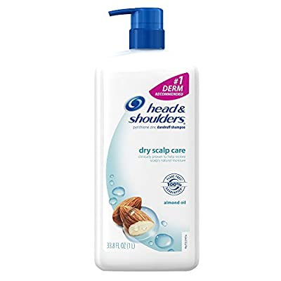 Head & Shoulders Dry Scalp Care, Almond Oil,  Dandruff Shampoo 33.8 Fl Oz