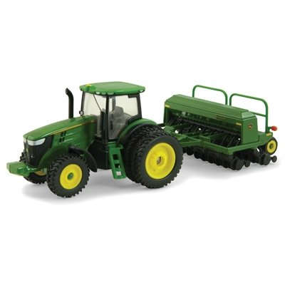 Ertl Collectibles John Deere 7215R Tractor With Grain Drill front-1030496