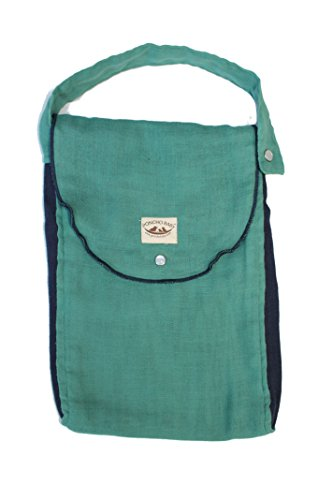 Poncho Baby Organic Diaper Bag: Pack-N-Run Emerald/Navy Blue