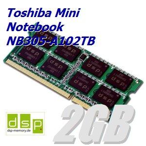 2GB Speicher / RAM für Toshiba Mini Notebook NB305-A102TB