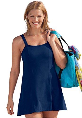 4417e02c686 Woman Within Plus Size Slimming Swimdress By Swim365 (Indigo,24 W) | Plus  Size Swimwear
