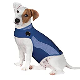 ThunderShirt Polo Dog Anxiety Jacket, Blue, XX-Small