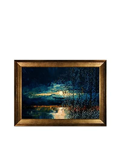 "Justyna Kopania ""Moon (Blue)"" Framed Giclée on Canvas"