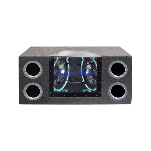 "Pyramid Dual 12"" 1200 Watt Bandpass Speaker System W/Neon Accent Lighting"