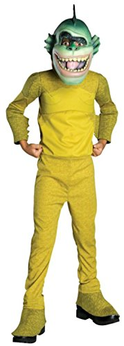 Boys Monstr V Alien Missing Link Kids Child Fancy Dress Party Halloween Costume