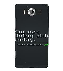 PrintVisa Quotes Design 3D Hard Polycarbonate Designer Back Case Cover for Nokia Lumia 950
