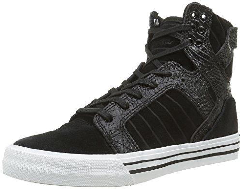 Supra Unisex-Erwachsene Skytop Hohe Sneakers, Schwarz (Black / Croc-White 089), 49.5 EU thumbnail