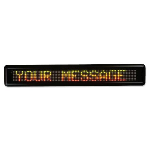 U.S. Stamp & Sign 2827 Message Led Signs, 16 Characters, 4-1/2 In.X29 In.X2 In., Black