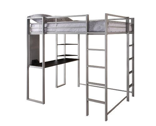 Dorel Home Products Abode Full Size Loft Bed, Silver (Loft Beds Full compare prices)