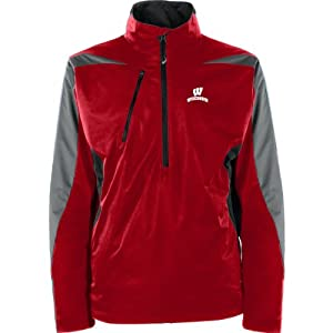 Antigua Mens Wisconsin Badgers Discover Jacket by Antigua
