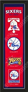 Heritage Banner Of Philadelphia 76ers-Framed Awesome & Beautiful-Must For A... by Art and More, Davenport, IA
