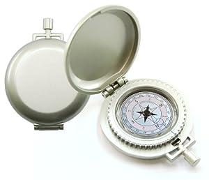 K&R Nobilis Pocket Compass, Metallic Silver by K&R