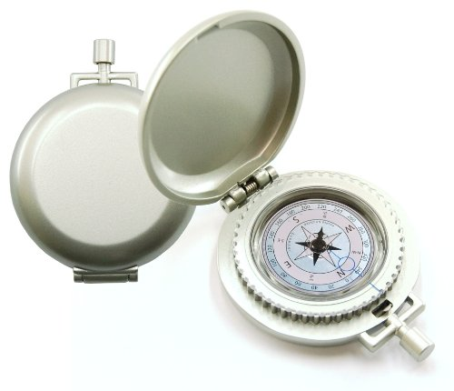 K&R Nobilis Pocket Compass, Metallic Silver
