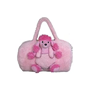 Kreative Kids 4205 Pink Poodle Duffel Bag with Plush Animal + Activity Book