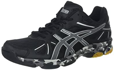 Asics B256N Women's GEL-FLASHPOINT Volleyball Shoes, Black/Charcoal/Silve, 8/ UK:SIZE 6