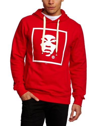 Supremebeing Basic Hood Carton Men's Sweatshirt Red Medium