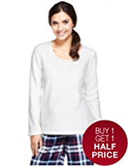 Scoop Neck Fleece Pyjama Top