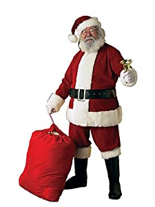 Rubie's Costume Co Deluxe Ultra Velvet Santa Suit, Red/White, X-Large