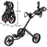 CaddyLite 15.3 Quad-Fold Golf Push Cart Black