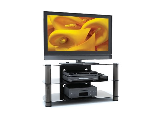 Sonax NY-9424 Metal and Glass TV Stand for 37