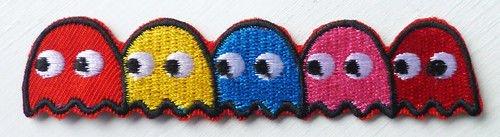 Aufbügler bestickt Motiv Pacman Gespenst Kostüm Iron On Patch neuen PAC-MAN emblem